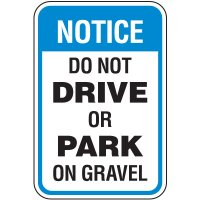 Property Protection Signs - Do Not Drive Or Park