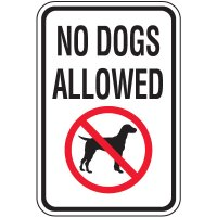 Property Protection Signs - No Dogs Allowed With Graphic