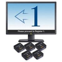 Qtrac® Queue Management System, 5 Stations