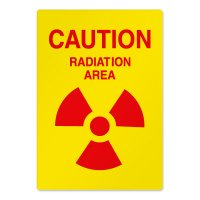 Radiation Hazard Safety Signs - Caution Radiation Area