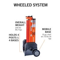 RapidRoll Wheeled Portable Barrier - Mobile Base