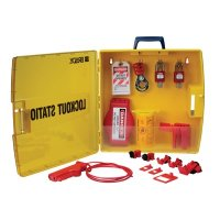 Ready Access Valve & Electrical Lockout Station w/Safety Padlocks