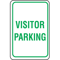 Plastic Parking Sign - Visitor Parking