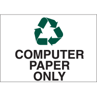 Recycling Labels - Computer Paper Only