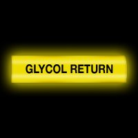 Reflective Opti-Code™ Pipe Markers - Glycol Return