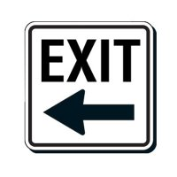 Reflective Parking Lot Signs - Exit (Left Arrow)