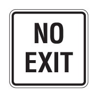 Reflective Parking Lot Signs - No Exit