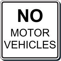Reflective Parking Lot Signs - No Motor Vehicles