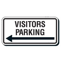 Reflective Parking Lot Signs - Visitors Parking