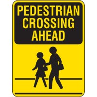 Reflective Pedestrian Crossing Signs - Pedestrian Crossing Ahead