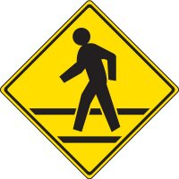 Reflective Pedestrian Crossing Signs - Pedestrian Crossing Symbol