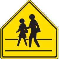 Reflective Pedestrian Crossing Signs - Pedestrians Crossing Symbol