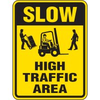 Reflective Pedestrian Crossing Signs - Slow High-Traffic Area