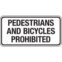 Reflective Pedestrian Signs - Pedestrians And Bicycles