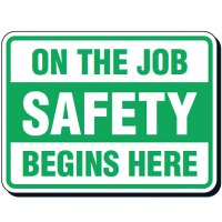 Reflective Seat Belt Signs - On The Job Safety Begins Here