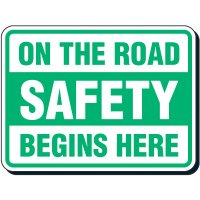 Reflective Seat Belt Signs - On The Road Safety Begins Here