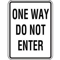 Reflective Speed Limit Signs - One Way Do Not Enter
