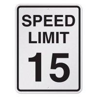 Semi-Custom Reflective Speed Limit Signs