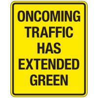 Reflective Traffic Reminder Signs - Oncoming Traffic