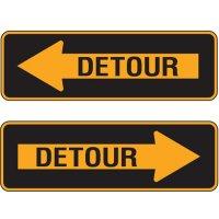Reflective Traffic Signs - Detour Arrow