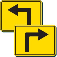 Reflective Traffic Signs - Left/Right Turn Arrows