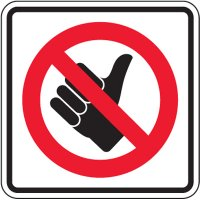 Reflective Traffic Signs - No Hitchhiking (Symbol)