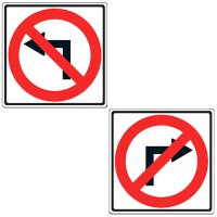 Reflective Traffic Signs - No Left/Right Turn (Symbol)