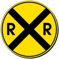 Reflective Traffic Signs - Railroad Crossing (Symbol)
