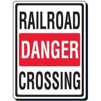 Reflective Traffic Signs - Railroad Danger Crossing
