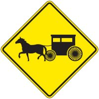 Reflective Warning Signs - Amish Buggy (Symbol)