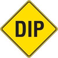 Reflective Warning Signs - Dip