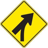 Reflective Warning Signs - Entering Roadway Merge (Symbol)