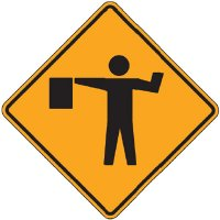 Reflective Warning Signs - Flagger (Symbol)