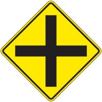 Reflective Warning Signs - Intersection (Symbol)