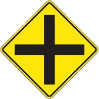 Reflective Warning Signs - Intersection (Symbol)