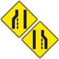Reflective Warning Signs - Lane Ends (Symbol)