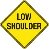 Reflective Warning Signs - Low Shoulder