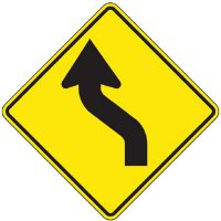 Reflective Warning Signs - Reverse Curve (Symbol)