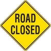 Reflective Warning Signs - Road Closed