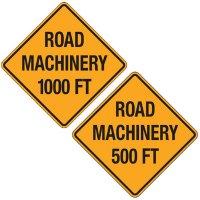 Reflective Warning Signs - Road Machinery
