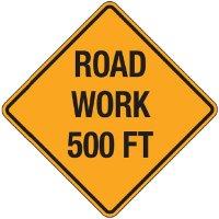Reflective Warning Signs - Road Work