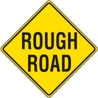 Reflective Warning Signs - Rough Road
