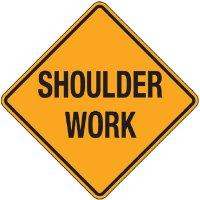 Reflective Warning Signs - Shoulder Work