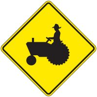 Reflective Warning Signs - Tractor (Symbol)