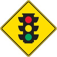Reflective Warning Signs - Traffic Signal Symbol