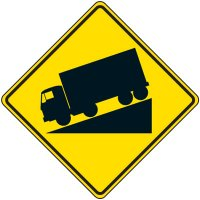 Reflective Warning Signs - Truck Decline Symbol