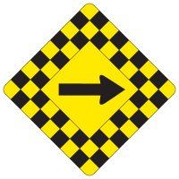 Regulatory Checkerboard Warning Signs – Arrow Symbol