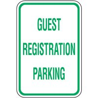Reserved Parking Signs - Guest Registration Parking