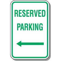 Reserved Parking Signs - Reserved Parking (Left Arrow)