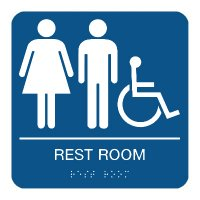 Rest Room (Accessibility) - Braille Restroom Signs